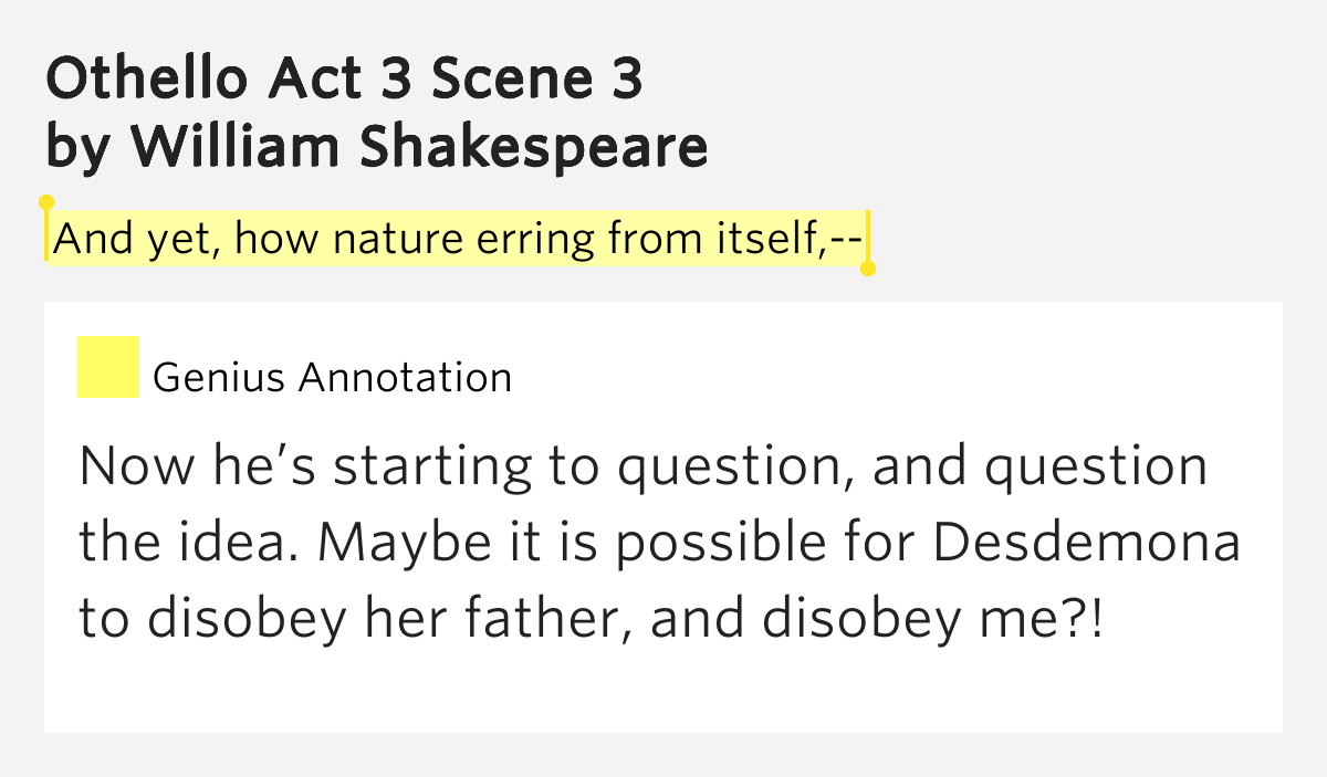 othello act 3 scene 3 fill a gap