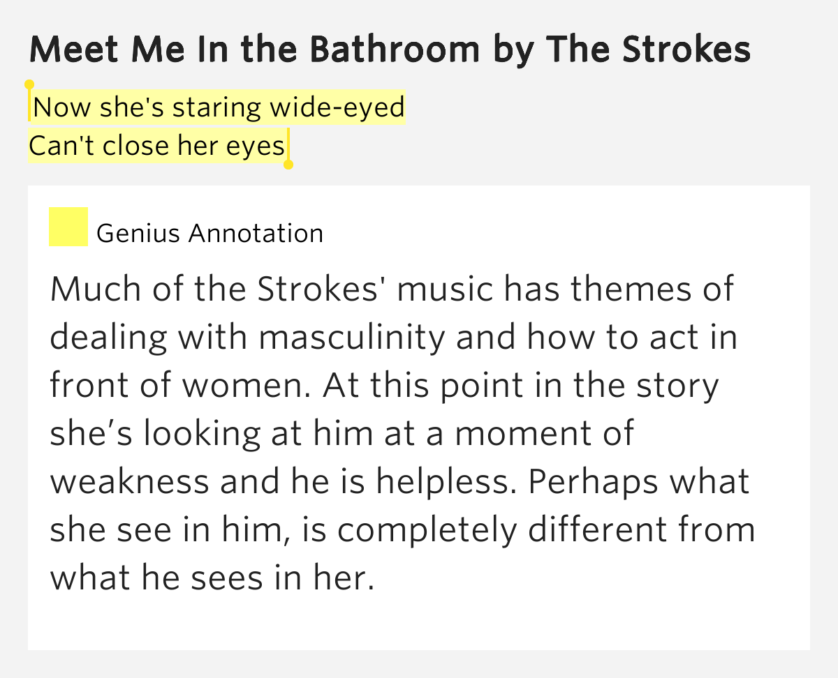 meet me in the bathroom rap lyrics