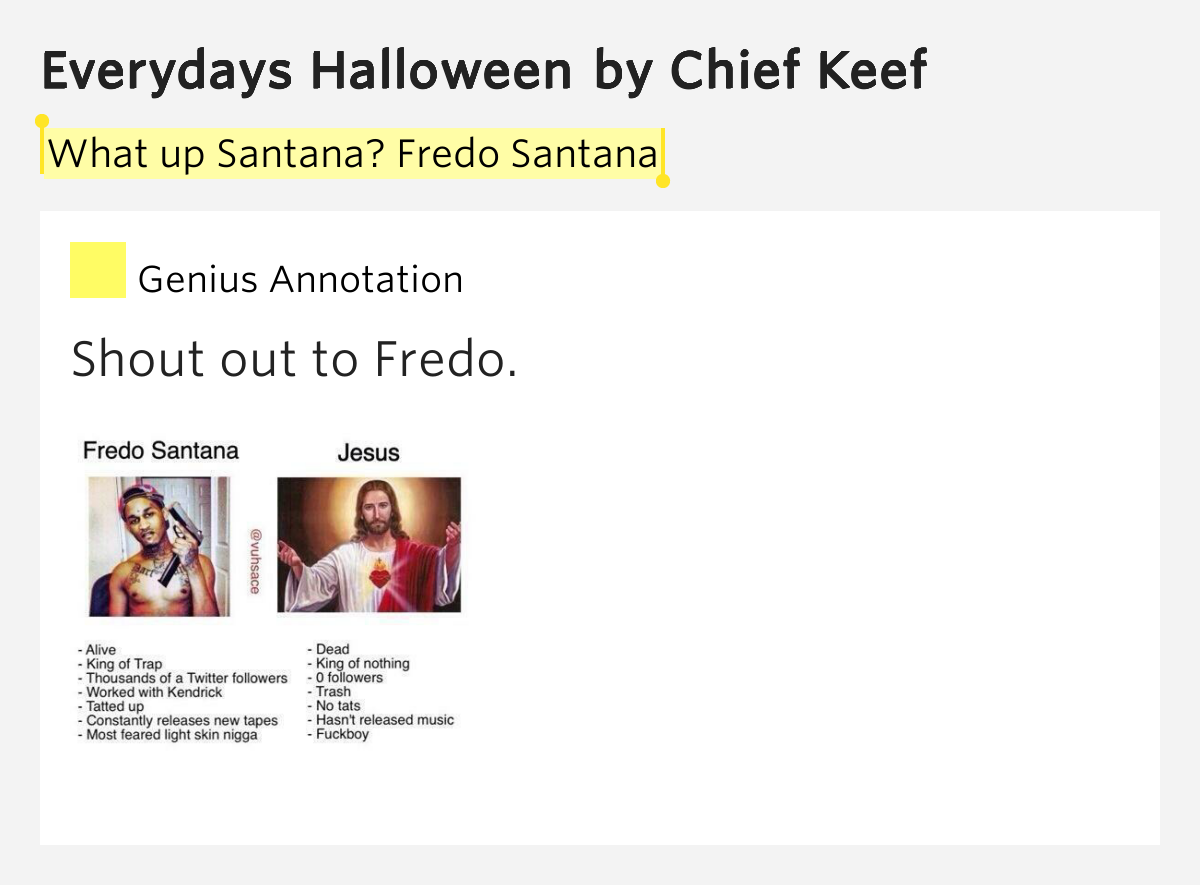 What up Sant... Santana Meaning