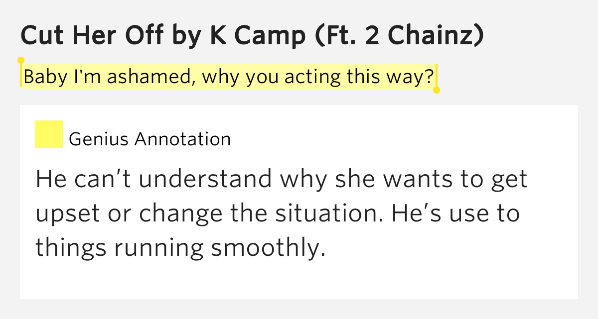 K Camp  Cut Her Off Lyrics  MetroLyrics