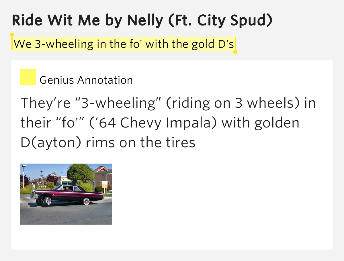 Nelly - Ride Wit Me (feat. City Spud) (clean edit) Lyrics