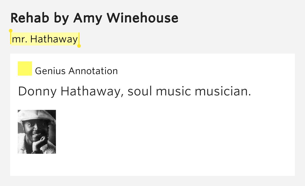 Images of Amy Winehouse Rehab Lyrics - #rock-cafe