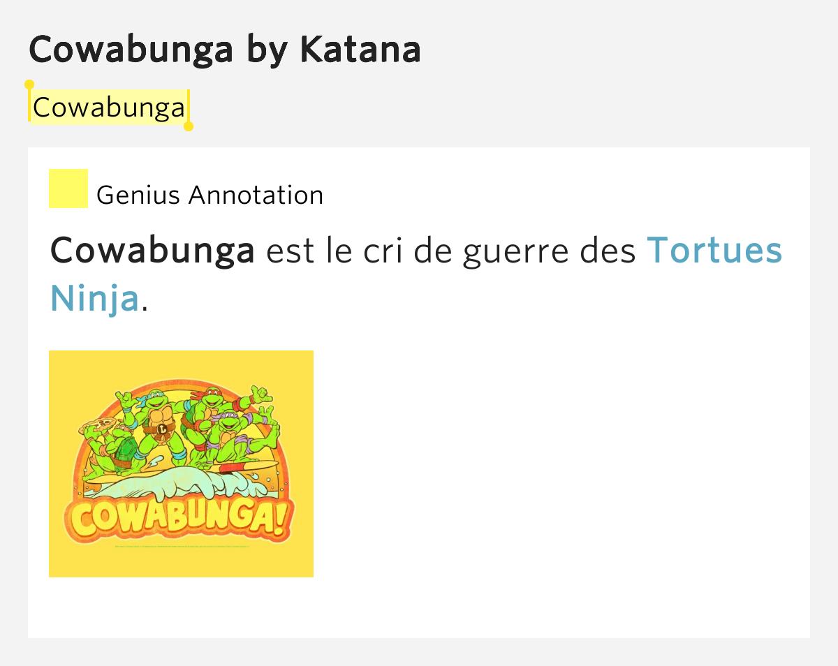 Cowabunga By Katana