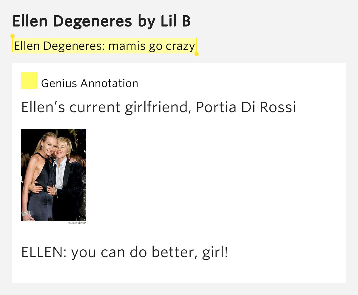 Lil b ellen degeneres lyrics