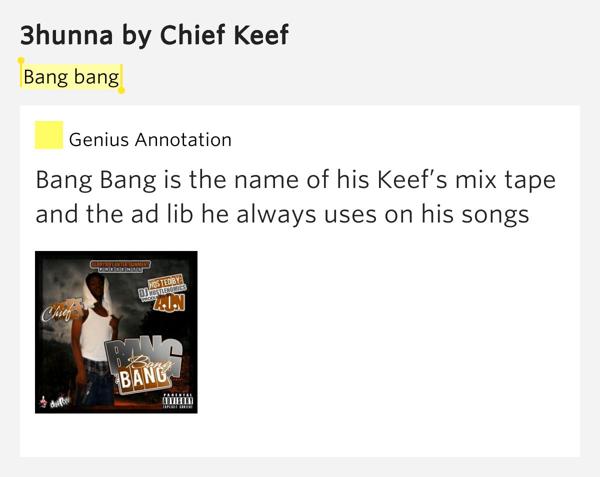 Bang bang – 3hunna by Chief Keef