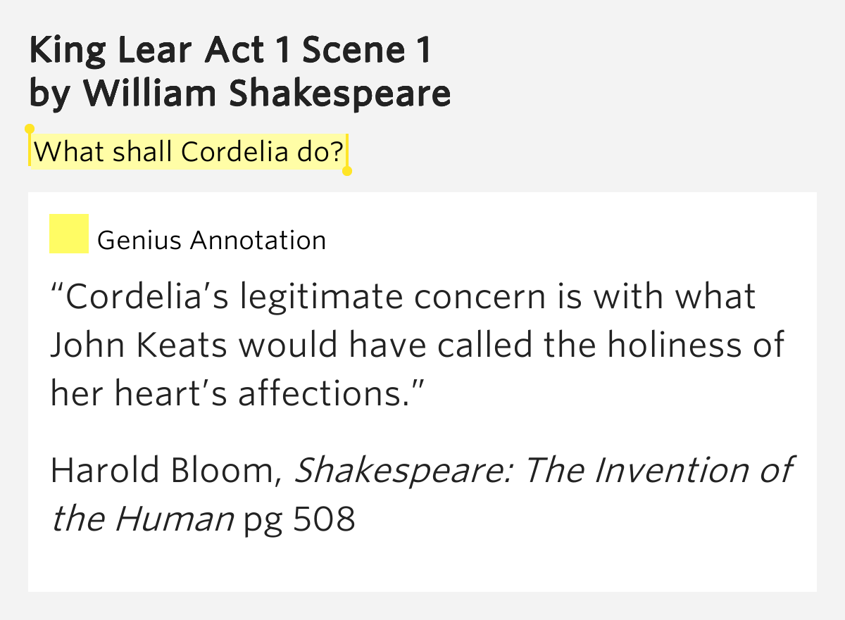king lear act 1 scene 2 quotes essay 1 sample essay feminist theory & king lear shakespeare's king lear is a deeply sad tale of a king who gives up his in act 3, scene 7.