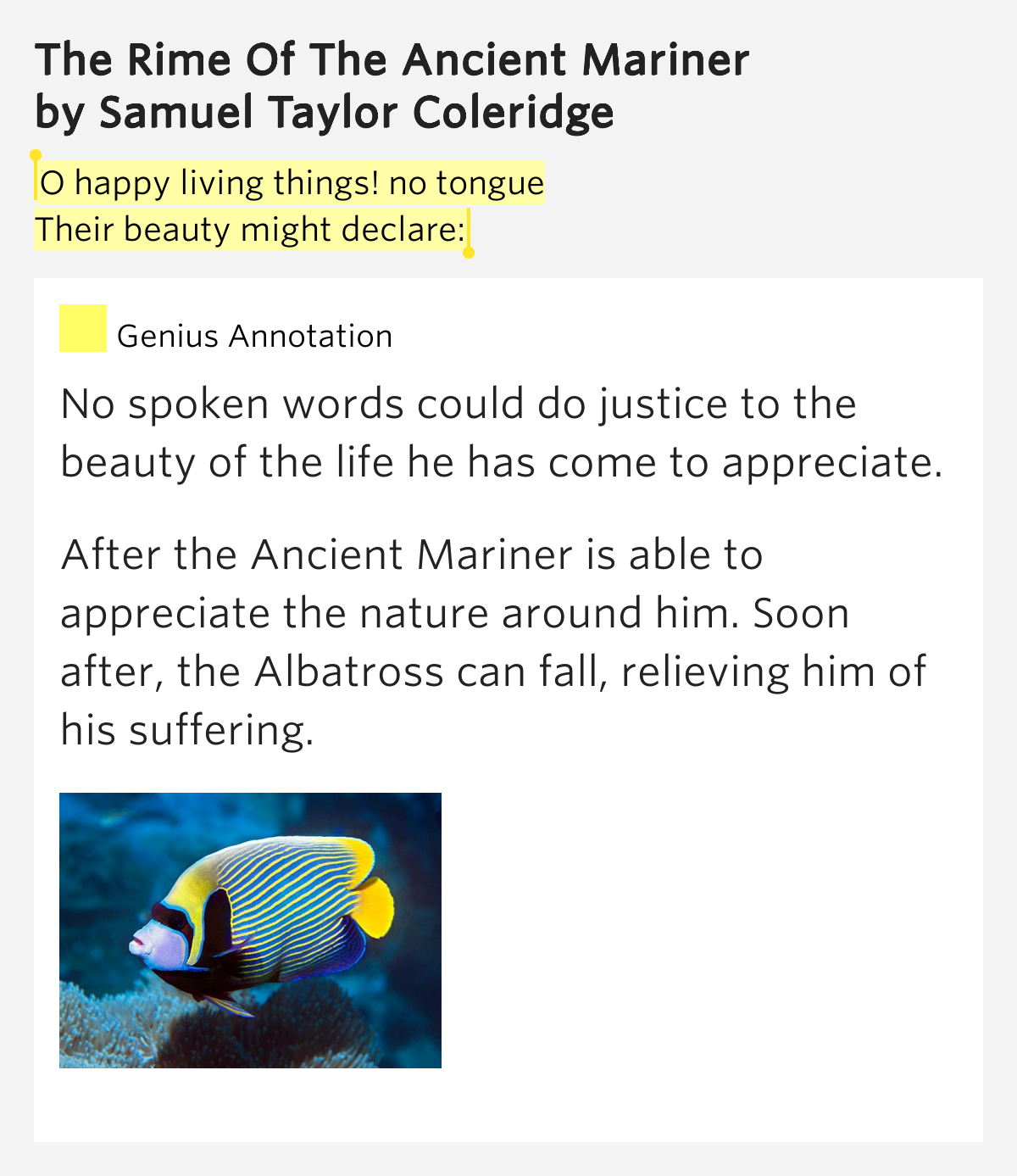 religious and natural symbolism in the rime of the ancient mariner by samuel taylor The rime of the ancient mariner samuel taylor coleridge  conception of the symbol, and definition of organic form in art brought to the english-speaking world the.