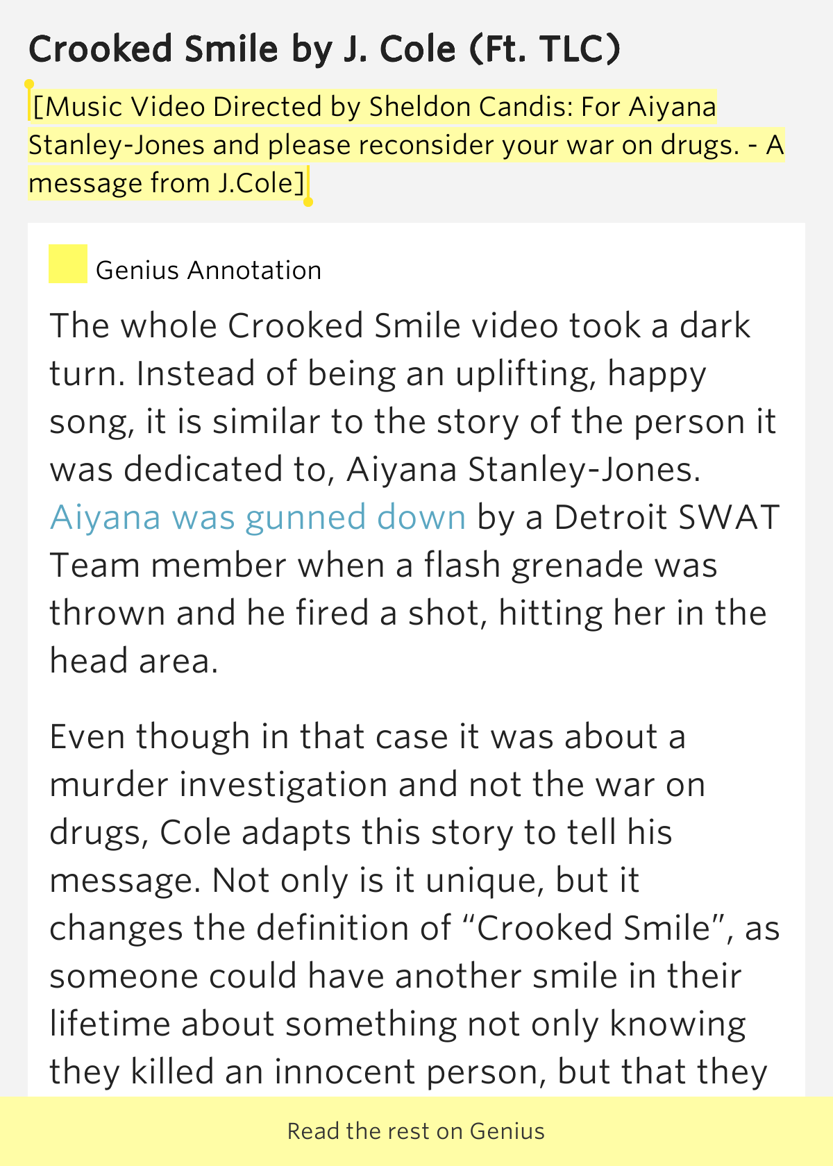 J Cole Crooked Smile Lyrics [Music Video Directed ...