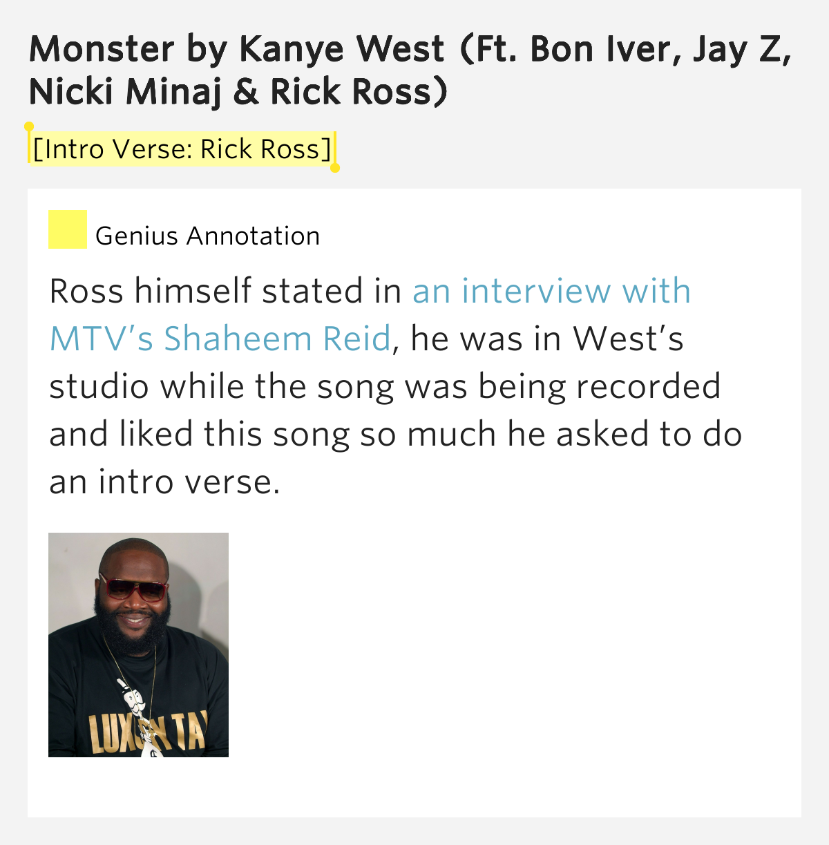 kanye west monster feat nicki minaj rick ross iver