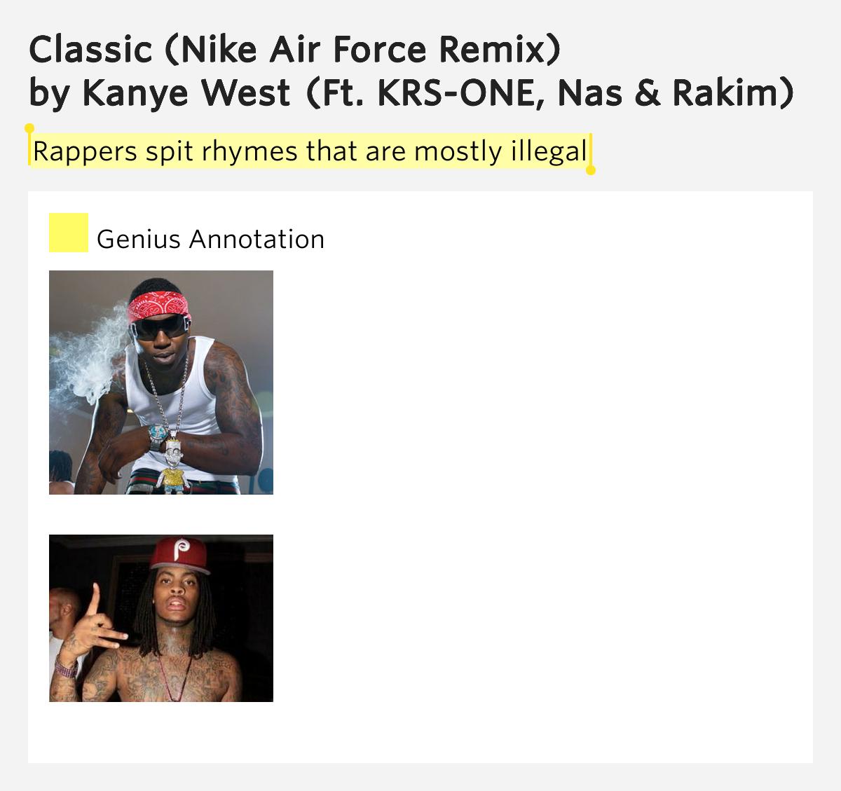 kanye west classic nike air force remix