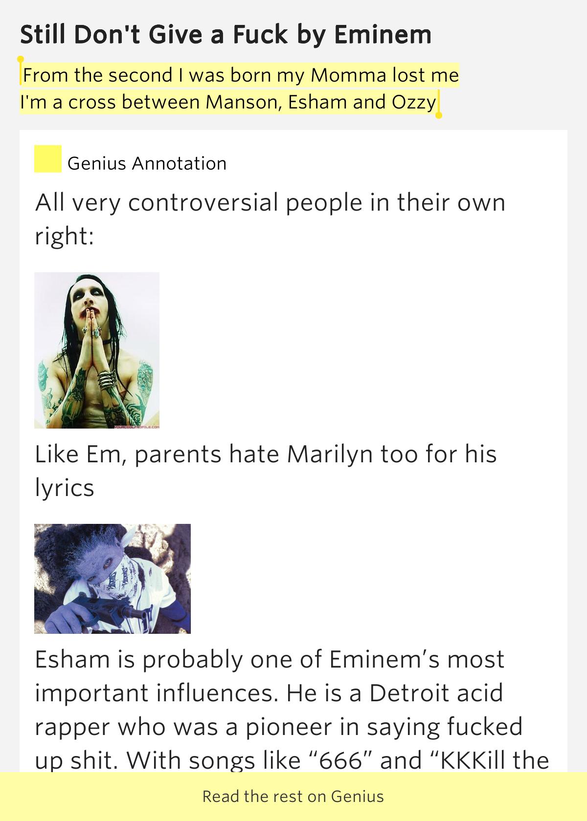 eminem still don t give a fuck