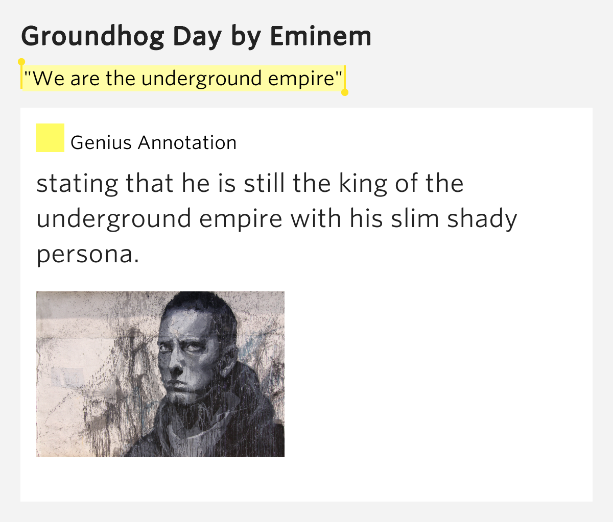 Eminem - Groundhog Day Lyrics | SongMeanings