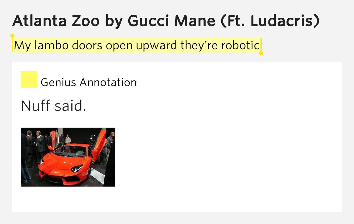 Gucci Mane - Atlanta Zoo Lyrics | MetroLyrics