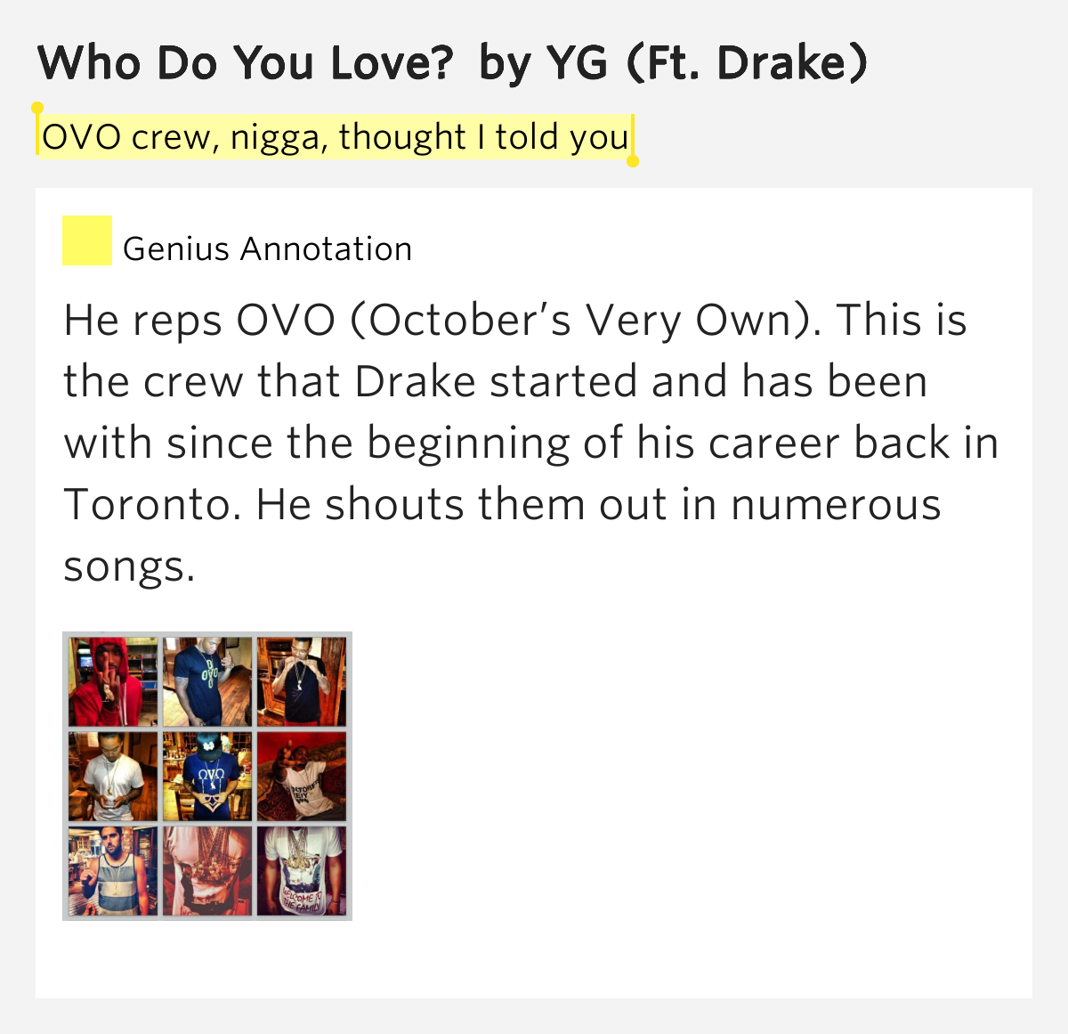 Yg Who Do You Love Lyrics yg feat drake w...