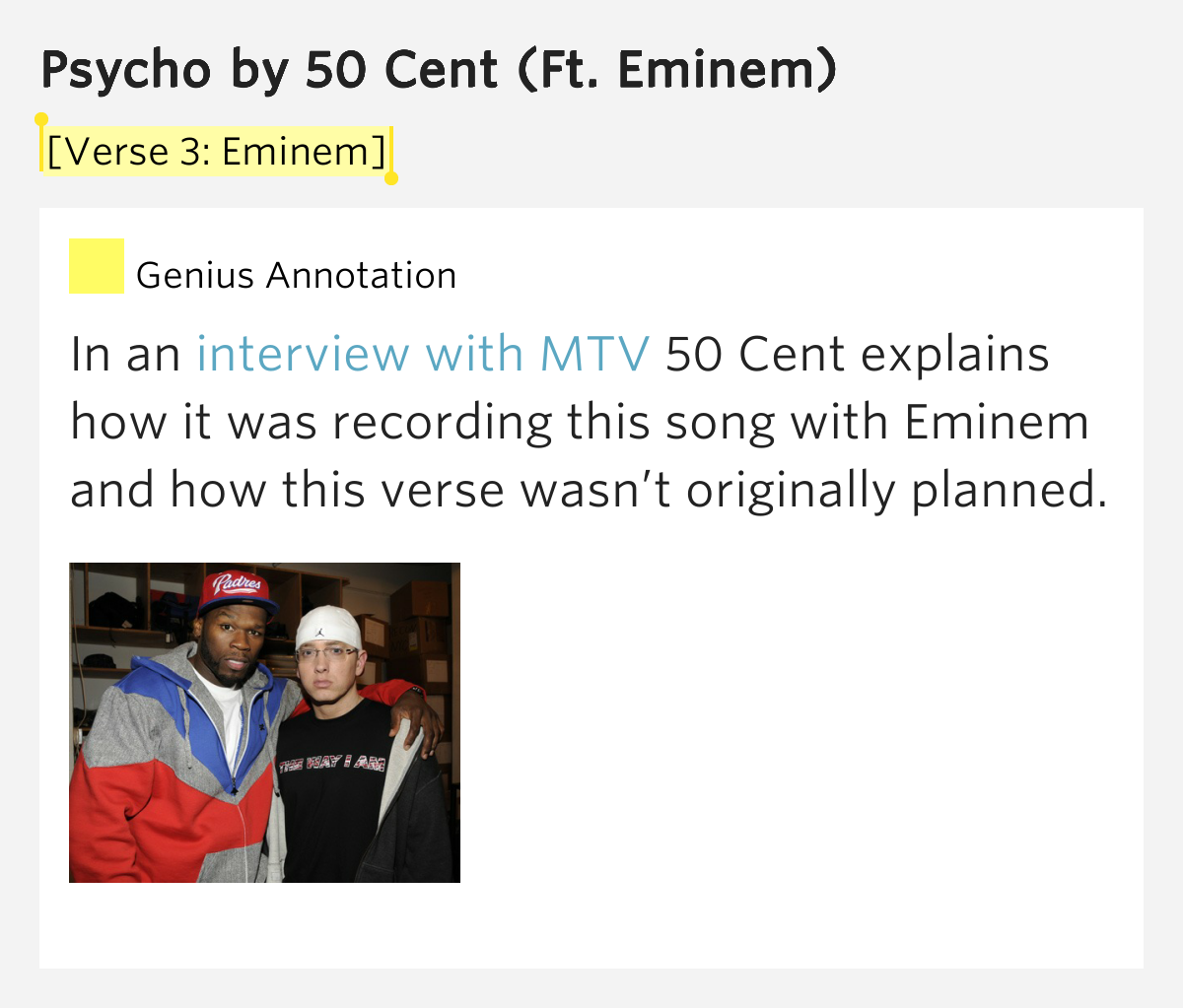 Eminem & 50 Cent - Psycho Lyrics - YouTube