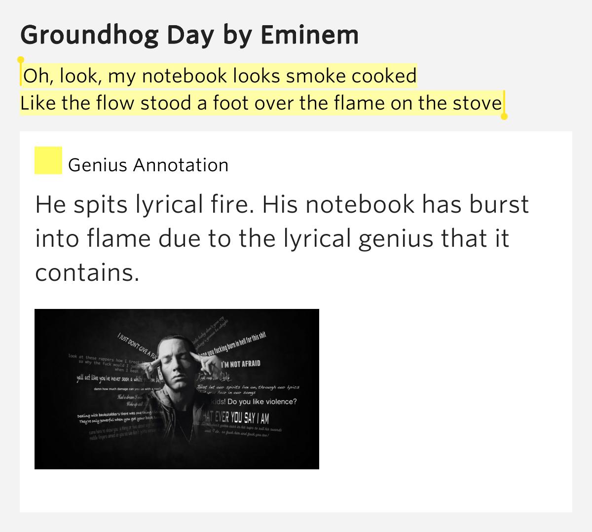 EMINEM - GROUNDHOG DAY LYRICS - SONGLYRICS.com
