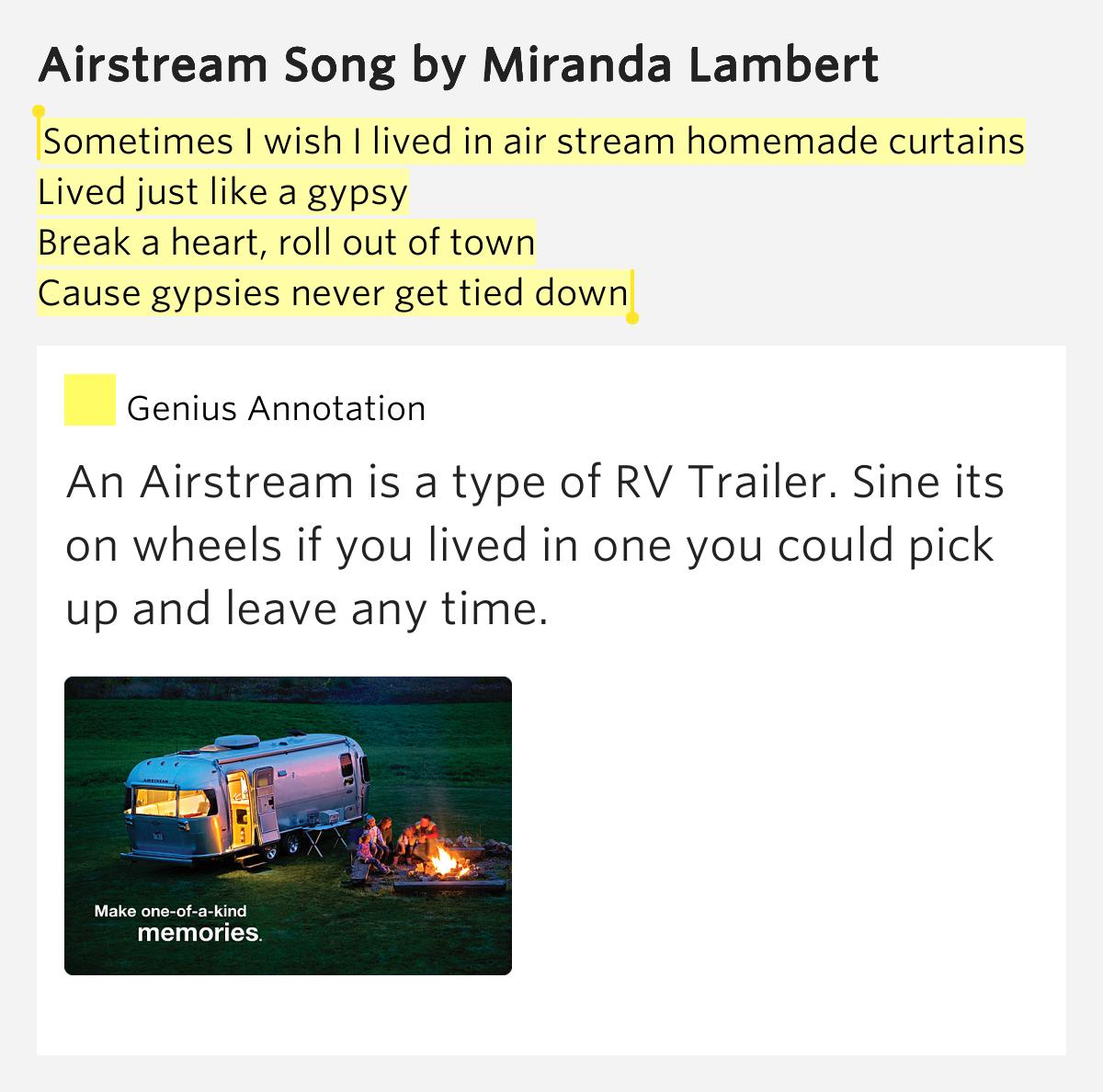 AIRSTREAM SONG CHORDS by Miranda Lambert @ Ultimate …