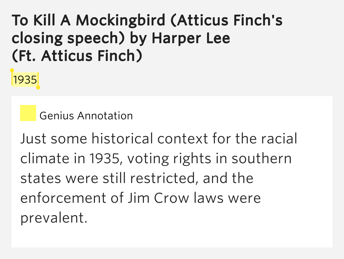 jim crow in to kill a mockingbird by harper lee essay Get your essay written starting at just $13  jim crow in to kill a mockingbird by harper  to kill a mockingbird by harper lee basic book report about the.