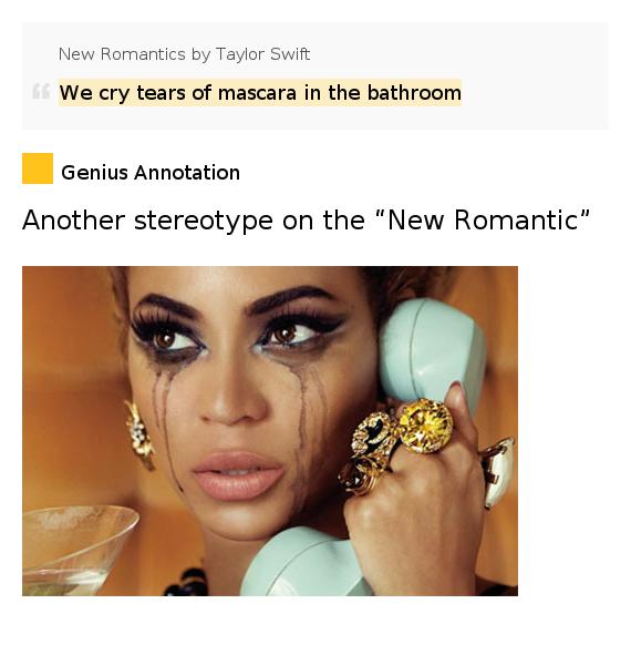 We Cry Tears Of Mascara In The Bathroom