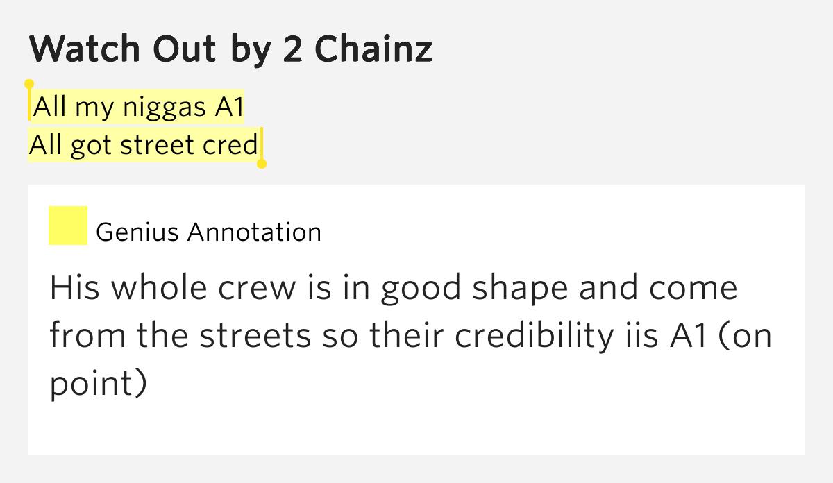 2 chainz watch out lyrics