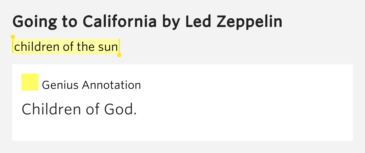 Going To California lyrics - Led Zeppelin - Genius Lyrics