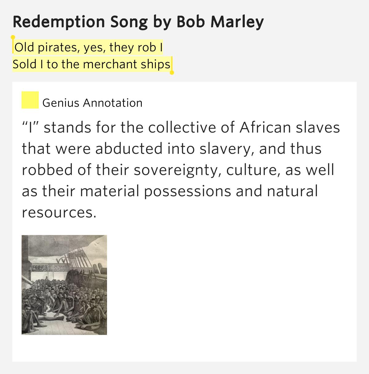 bob marley redemption song lyrics pdf