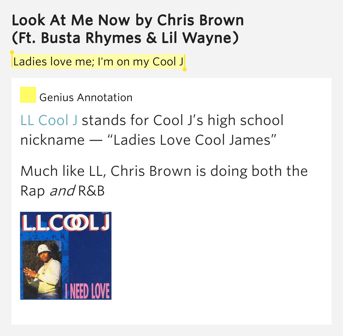 Ladies Love Me; I'm On My Cool J