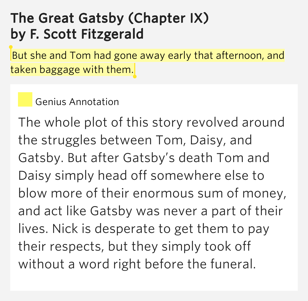 subtle meanings in f scott fitzgeralds the great gatsby Everything you need to know about the setting of f scott fitzgerald's the great gatsby, written by experts with you in mind.
