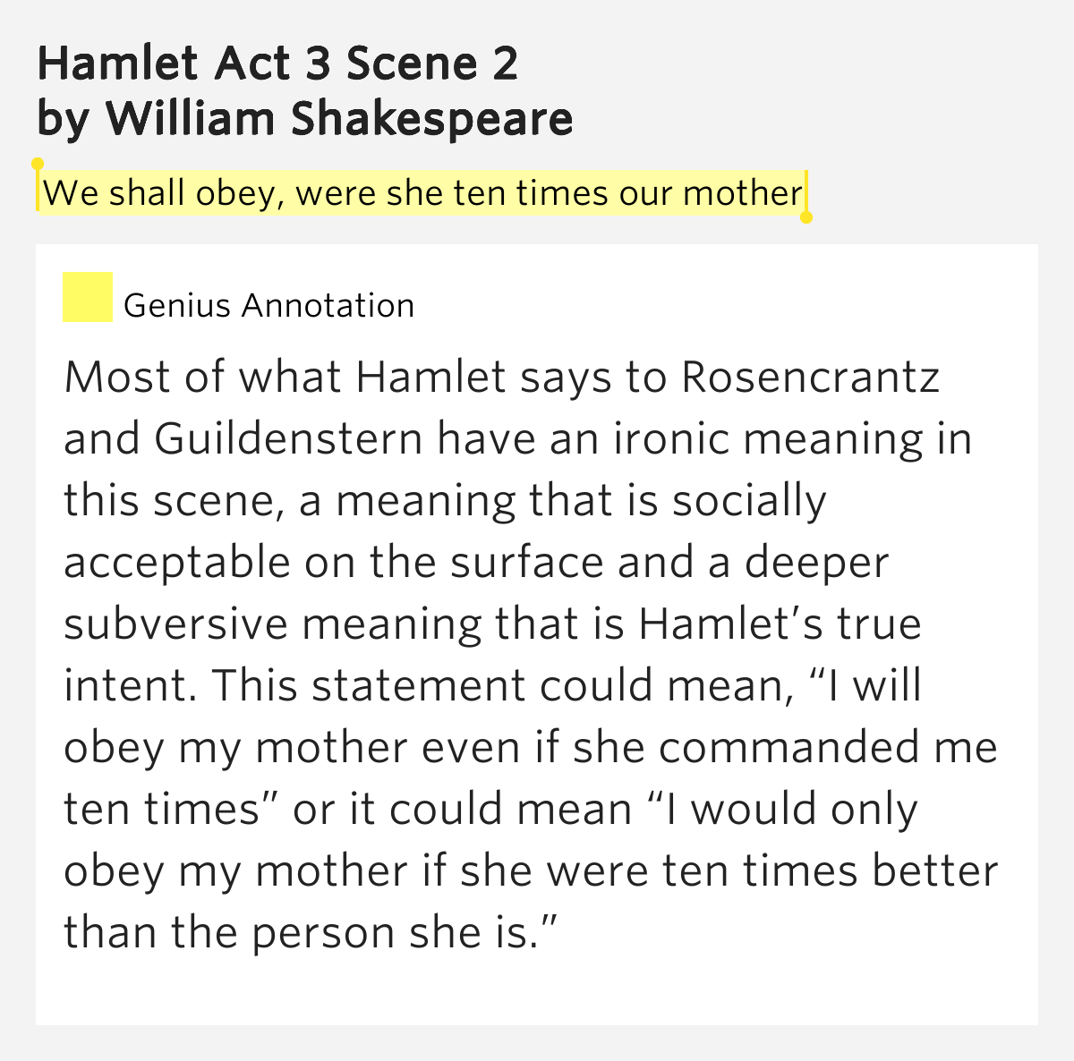 hamlets true intentions essay Free coursework on hamlet vs laertes in the play from essayukcom laertes voices his concern of hamlet's true intentions towards ophelia.