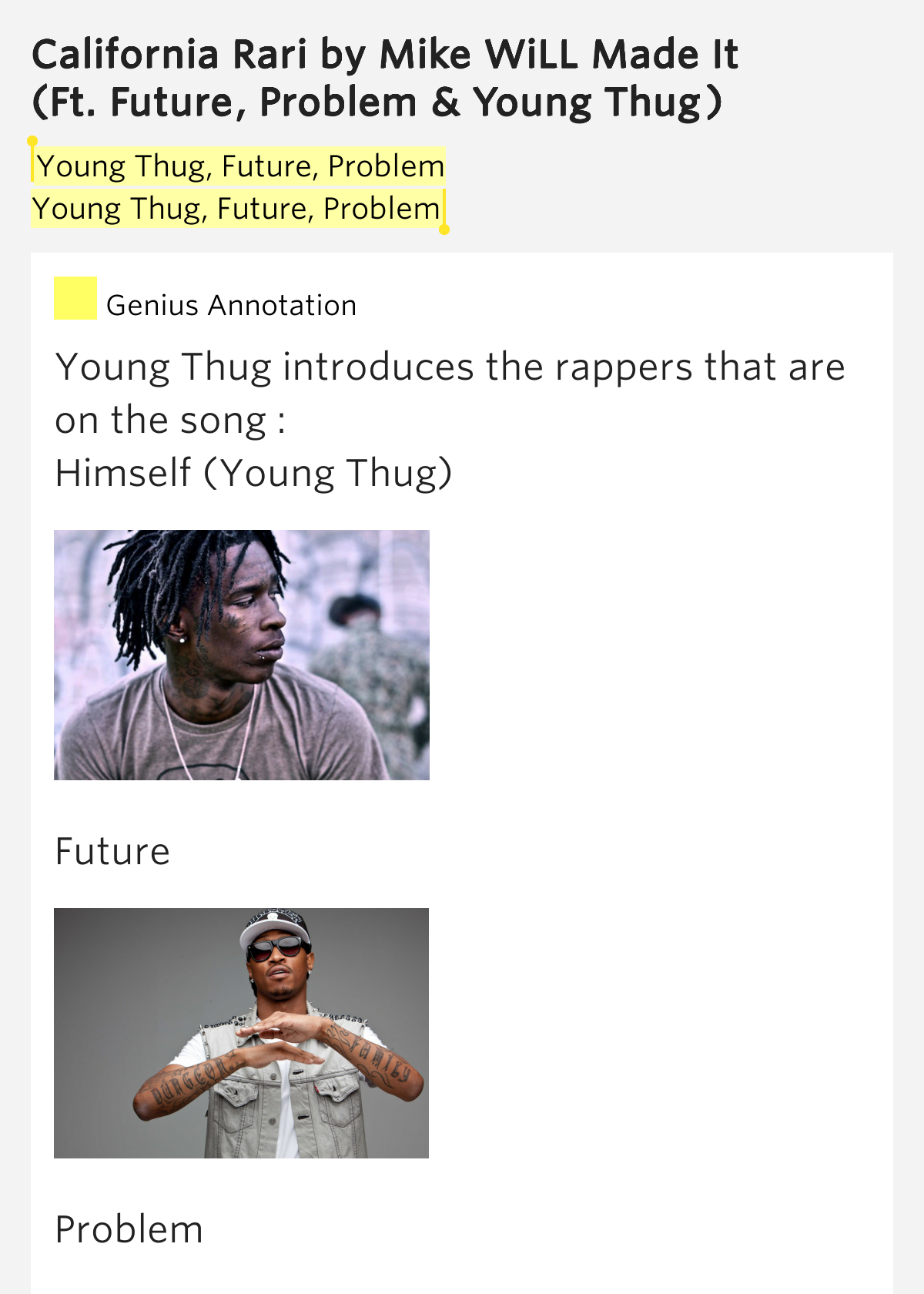 young thug problem lyrics