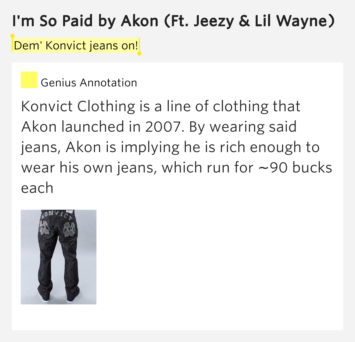 Akon – I'm So Paid Lyrics | Genius Lyrics