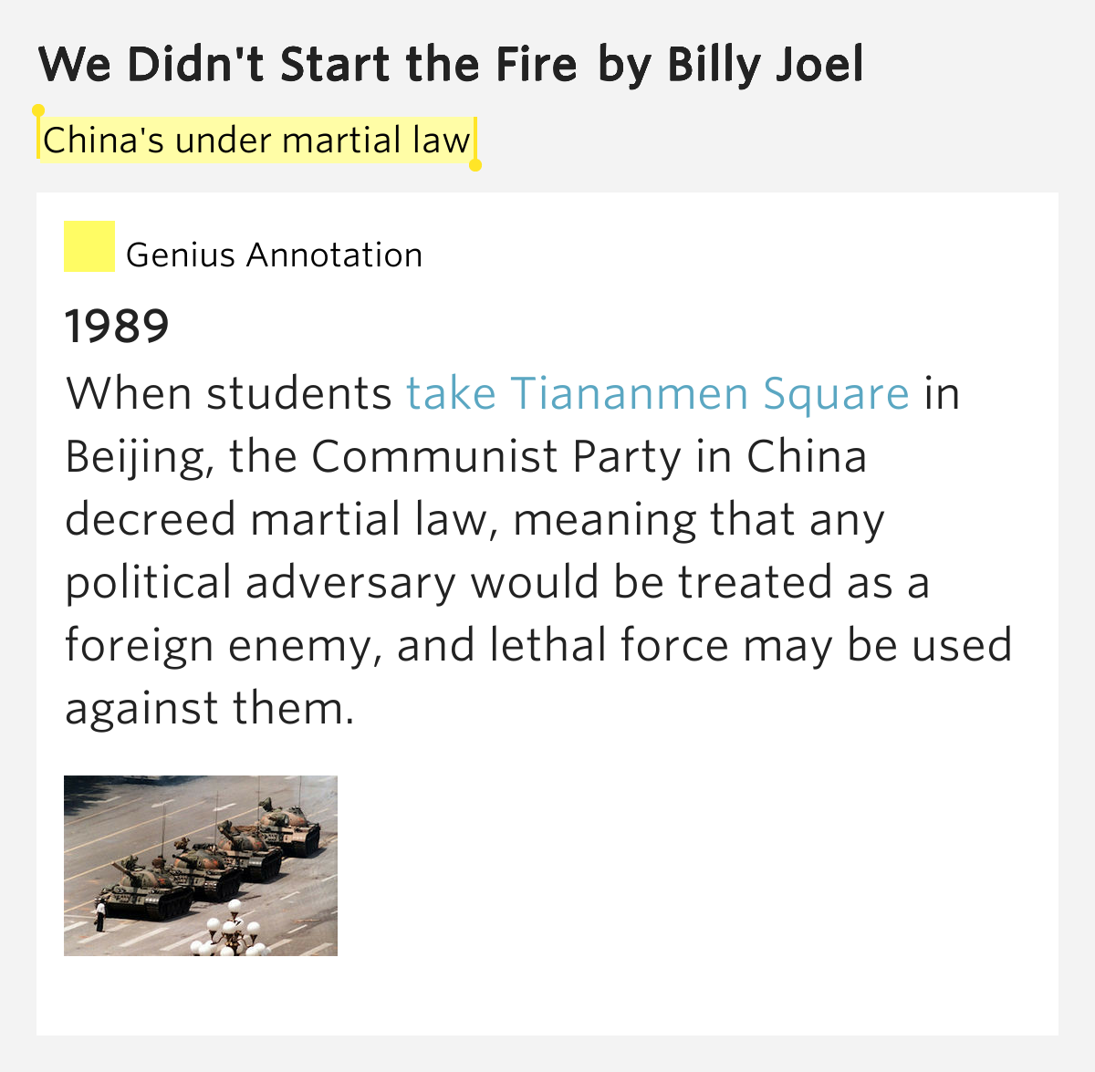 We Didn T Start The Fire Billy Joel: We Didn't Start The Fire By