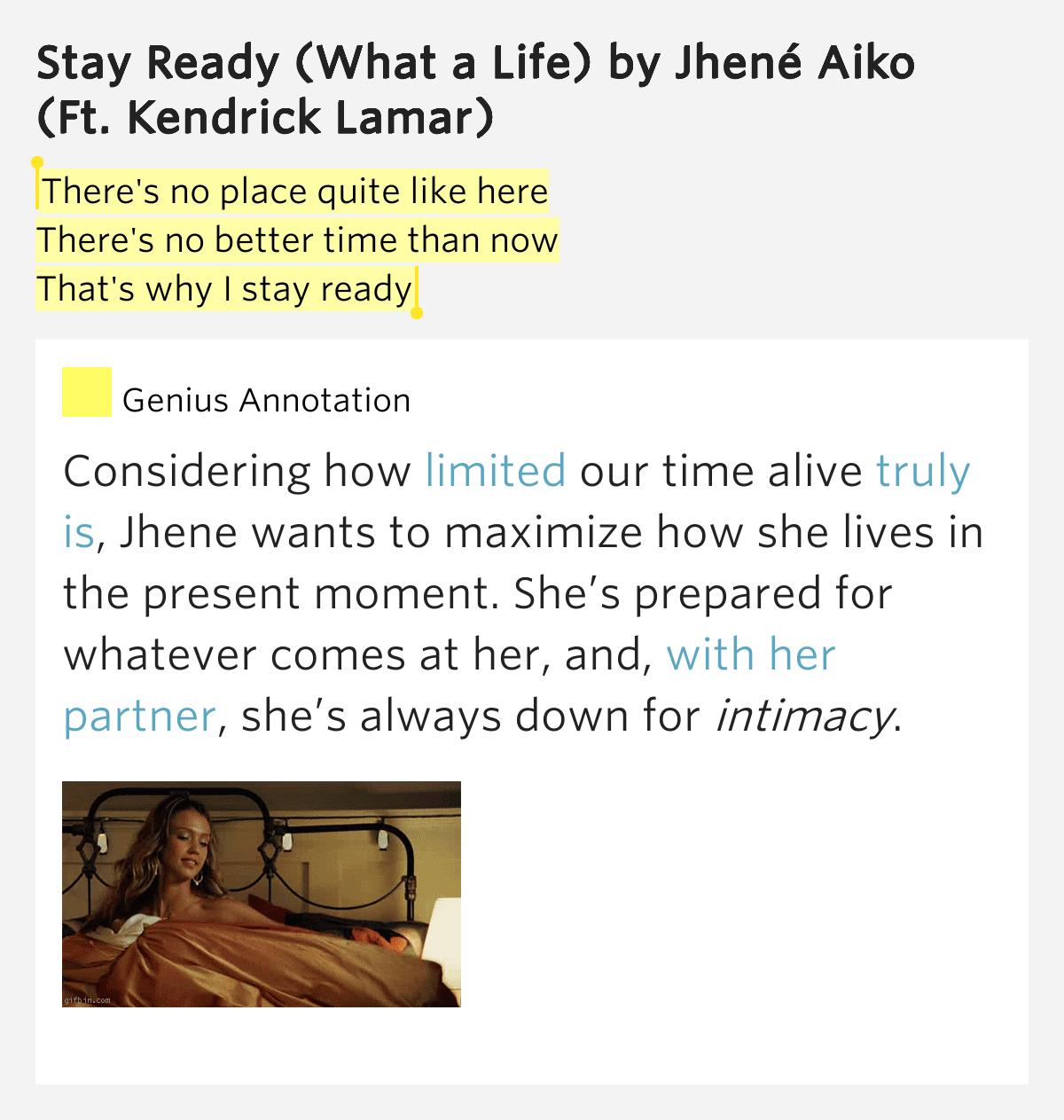 Jhené Aiko – Stay Ready (What a Life) Lyrics | Genius Lyrics