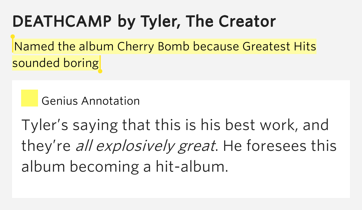 Named The Album Cherry Bomb Because Greatest Hits