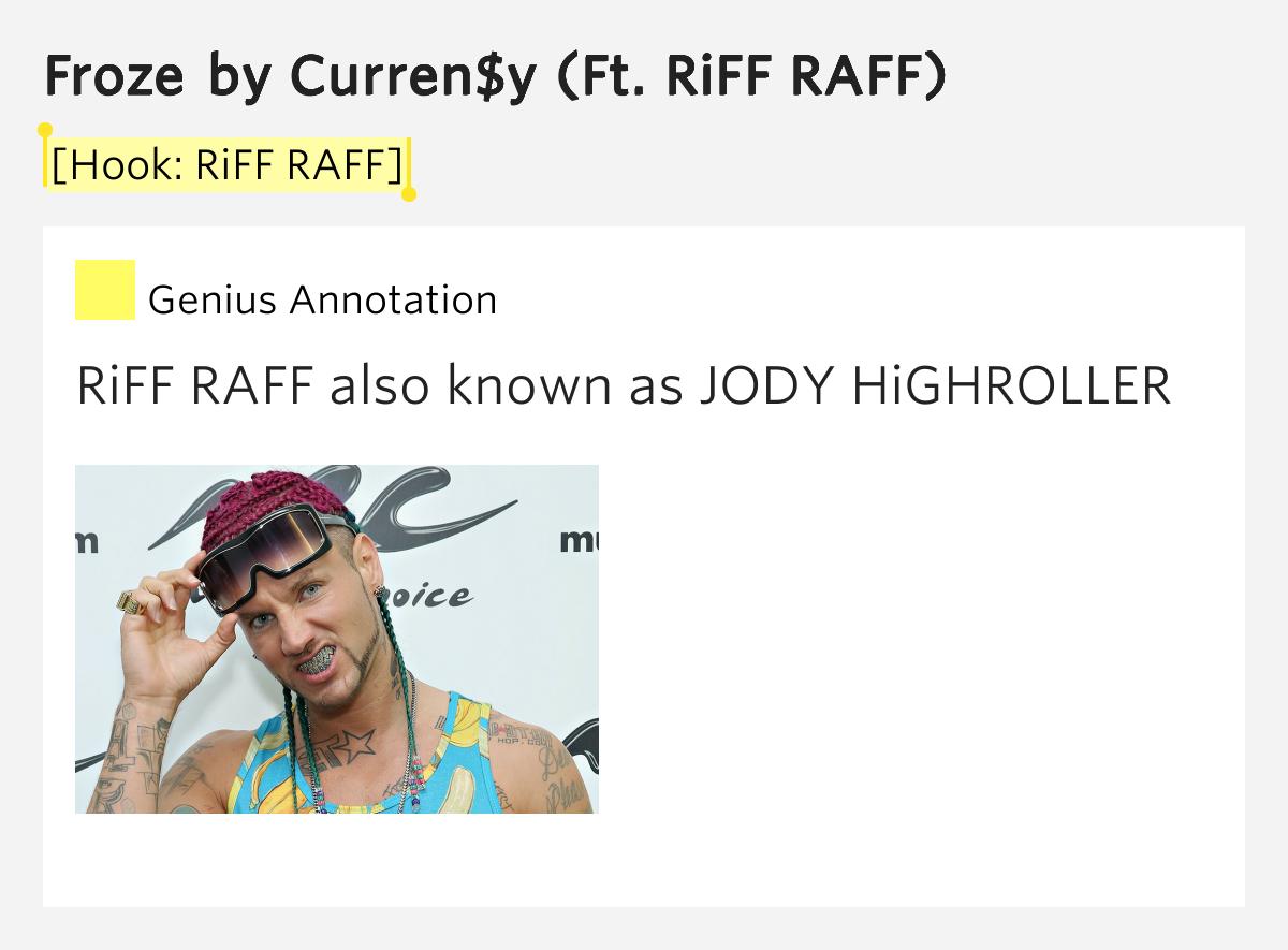 Hook Riff Raff Froze By Curren Y