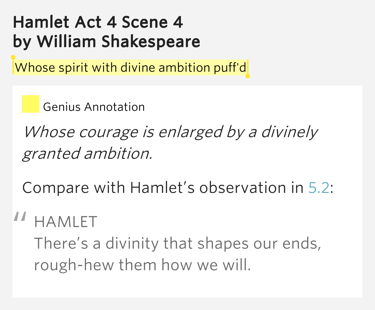 hamlet there is a divinity that There is a divinity that shapes our ends rough hew them how we will and that ultimately, the readiness is all to be or not to be the famous line to be, or not to be--that is the question can be interpreted as hamlet's decision to go through with the murder.