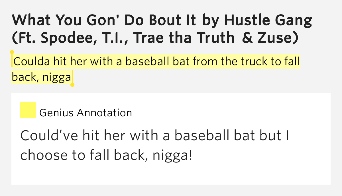 fuck you gon do bout it lyrics