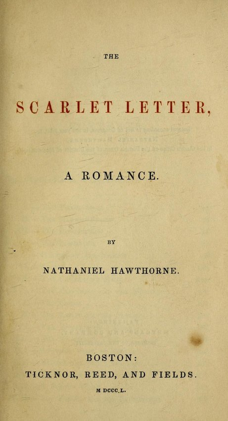 the examples of symbolism in the scarlet letter by nathaniel hawthorne