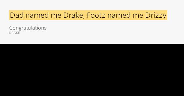 DRAKE : Congratulations lyrics - lyricsreg.com