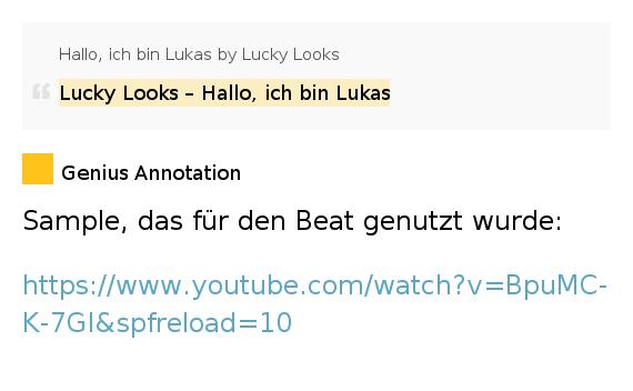 Lucky Looks – Hallo, ich bin Lukas – Hallo, ich bin Lukas