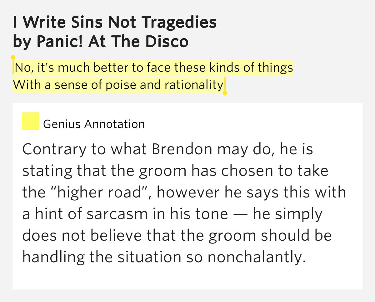I Write Sins Not Tragedies Lyrics New Blog