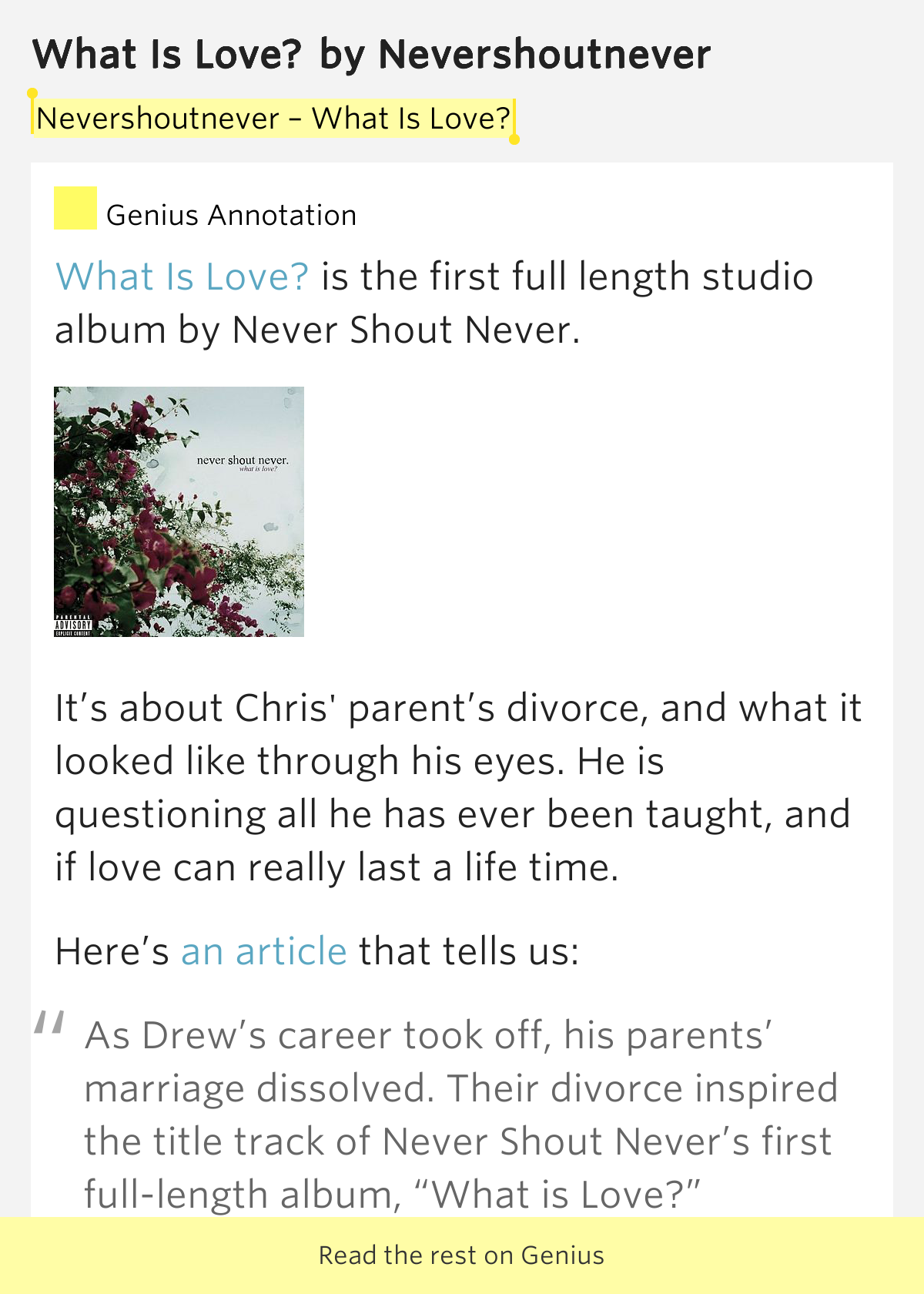 Never Shout Never What Is Love | www.imgkid.com - The ...
