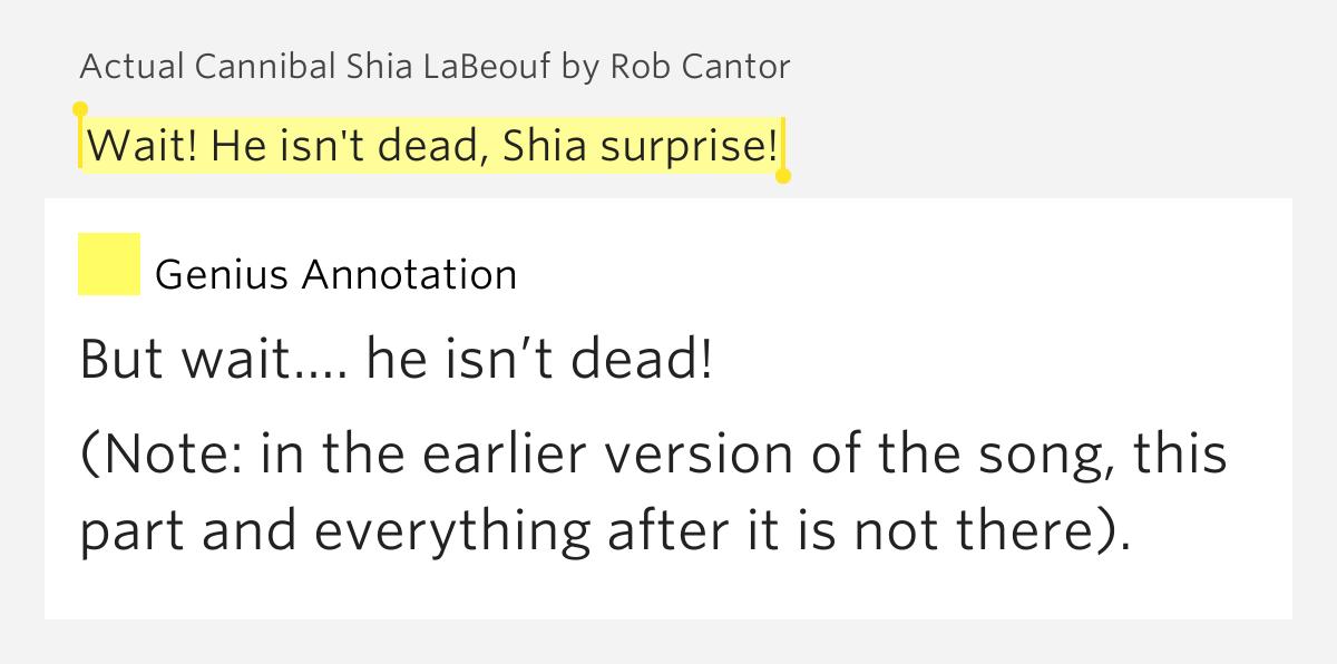 The Shia Labeouf Song Lyrics