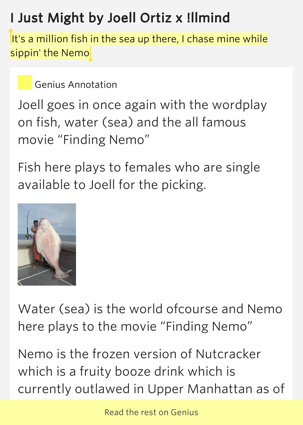 Lyrics fish in the sea