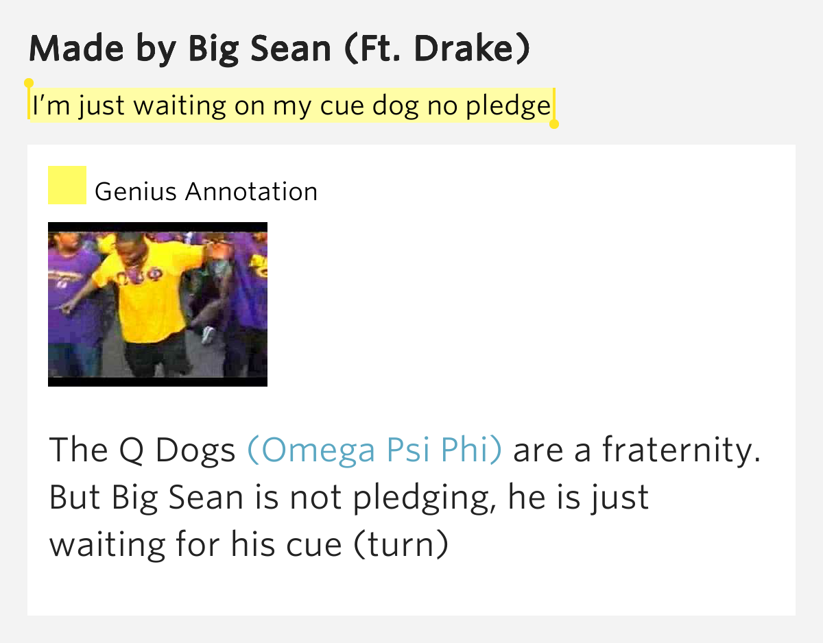 Q Dogs Fraternity I'm just wait...