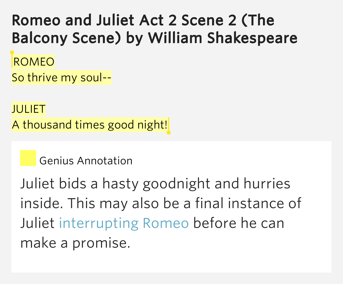 significance of act 2 scene 2 in shakespeares romeo and juliet Romeo and juliet william shakespeare buy share buy home literature notes romeo and act ii: scene 2 act ii: scene 3 act ii: scene 4 act ii: scene 5.