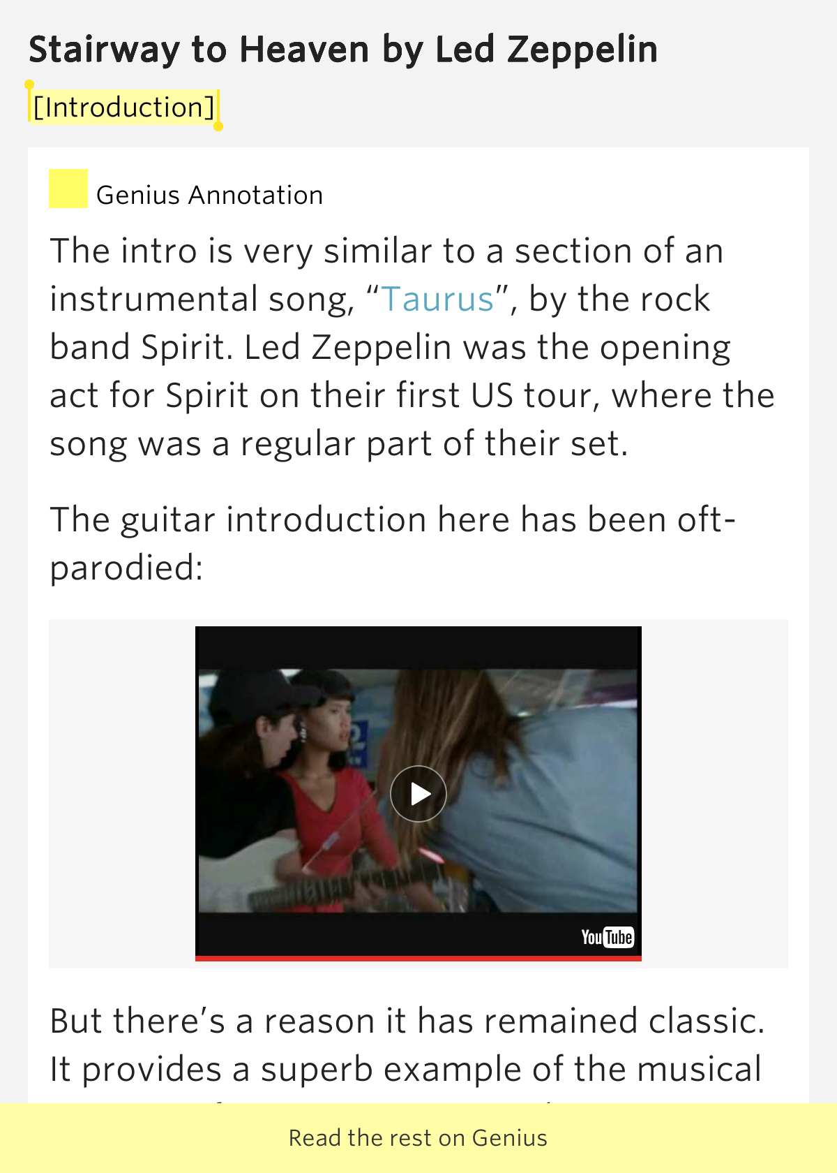 an interpretation of stairway to heaven The real reason for robert plant's tears during stairway to heaven  interesting analysis, chris it's hard to fathom what could have been for zeppelin.