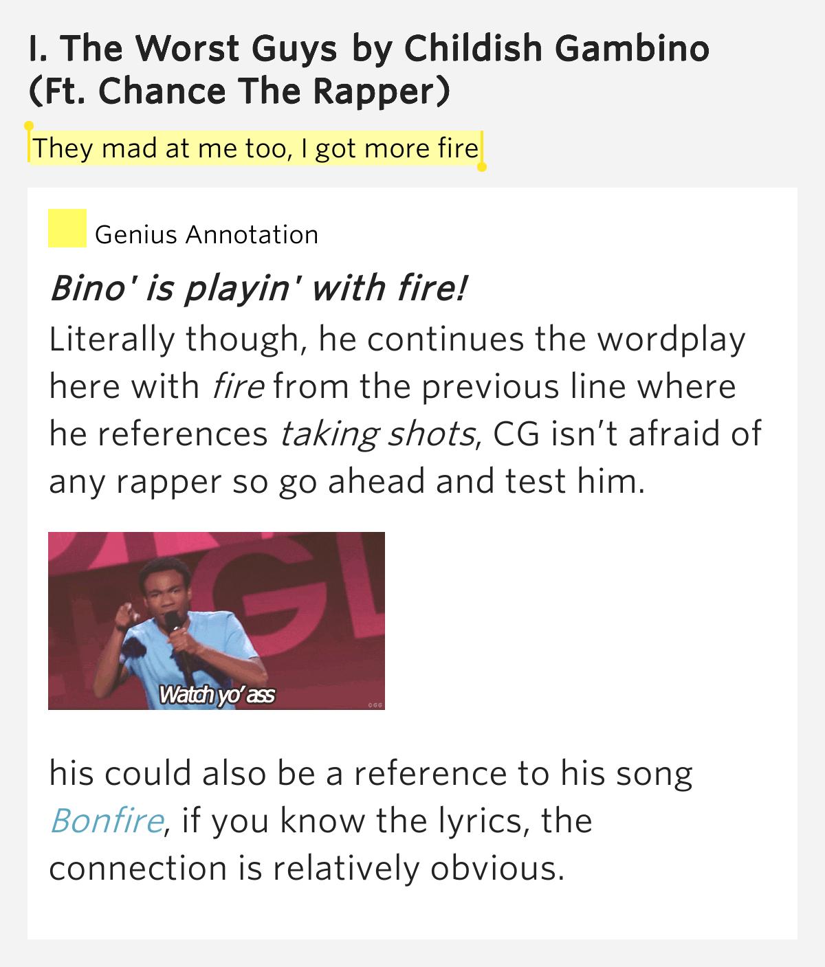 Childish Gambino - The Worst Guys (ft. Chance The Rapper ...