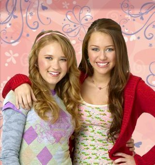 Emily Osment And Miley Cyrus by Emily Osment and Miley