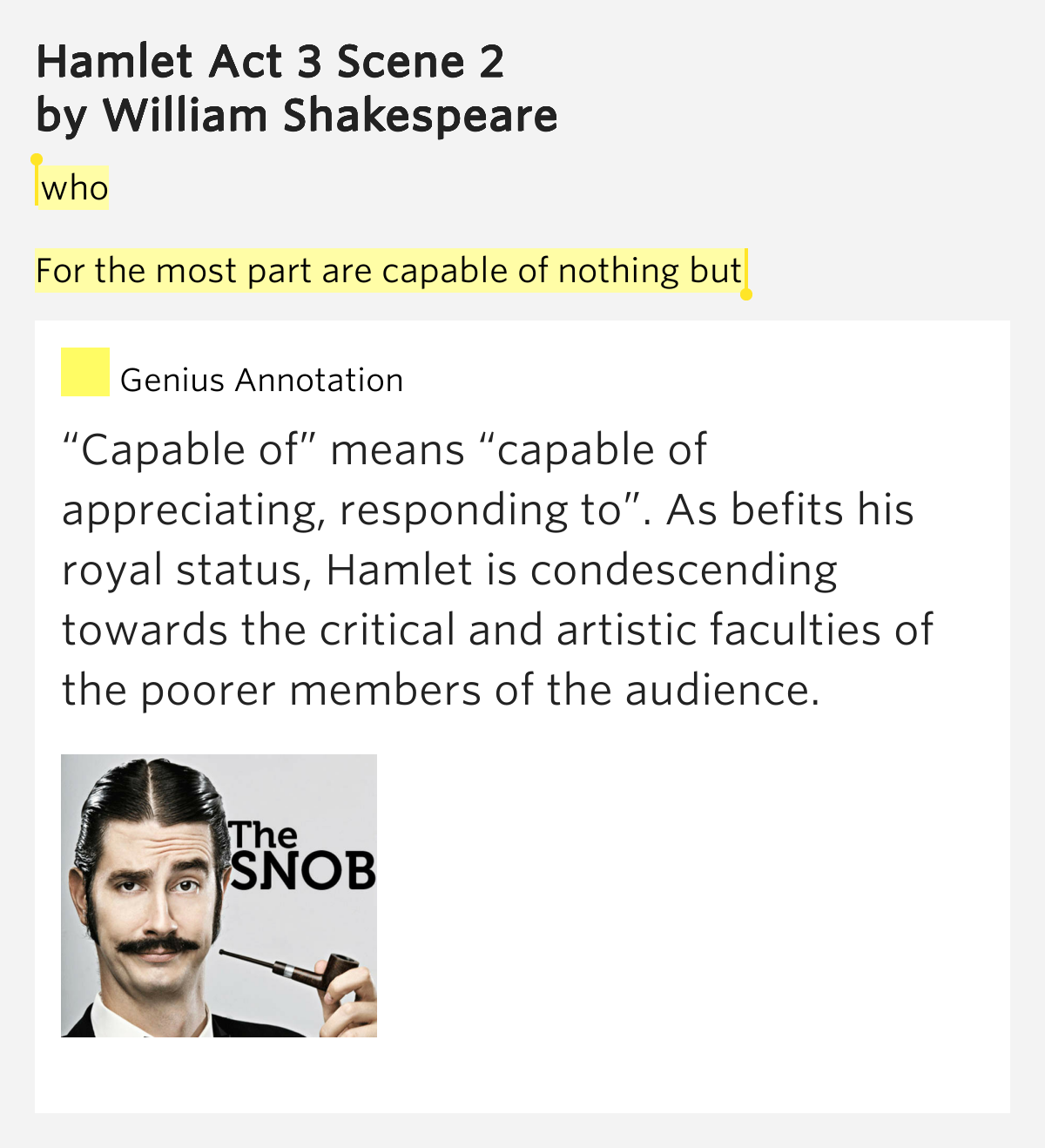 hamlet work 3 field Step 2 quotes